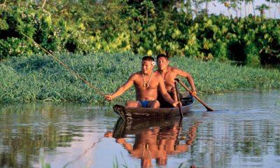 Amérindien sur le fleuve