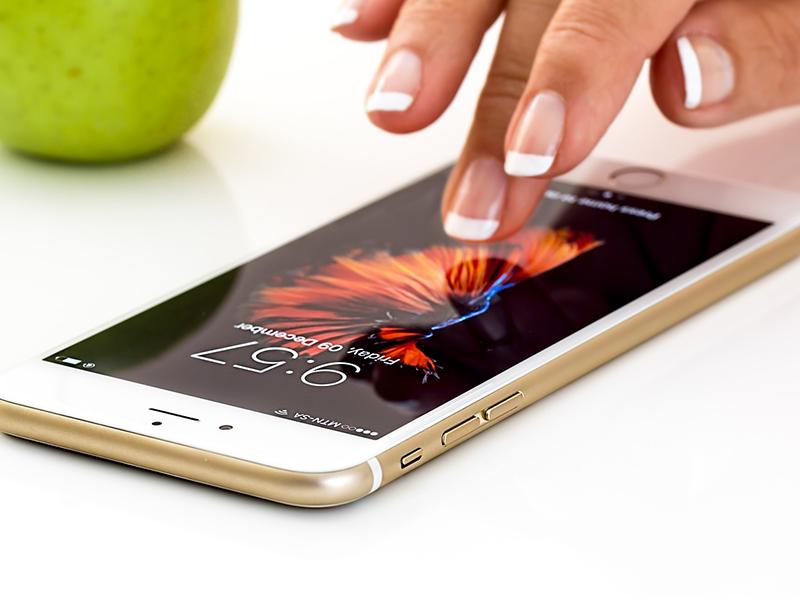 Téléphone or - coque doré