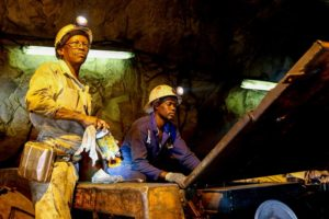 Workers in a mine